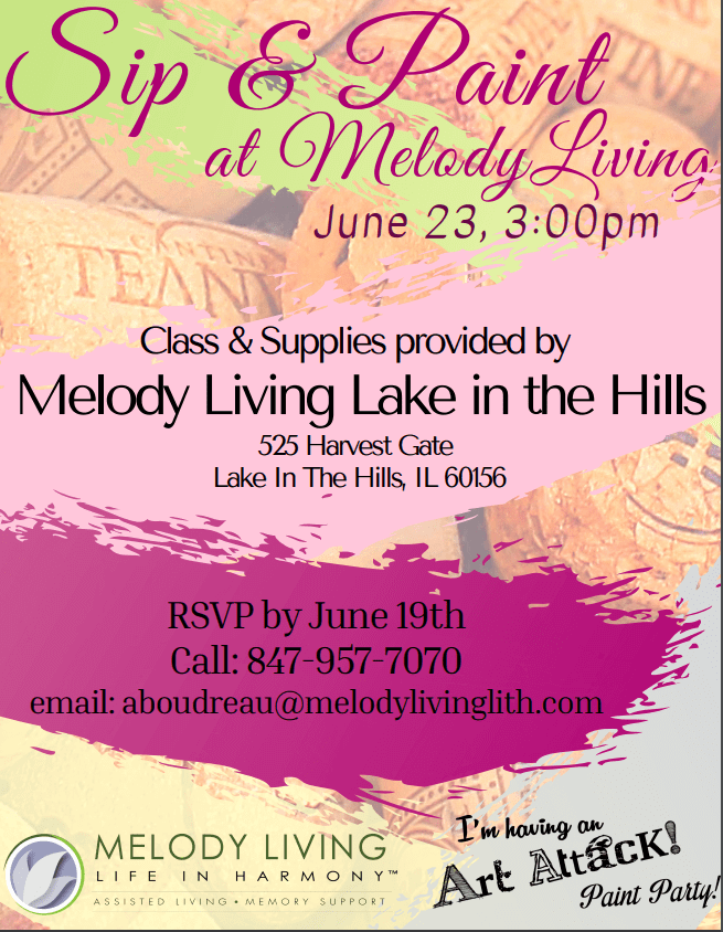 Sip & Paint at Melody Living Lake in the Hills