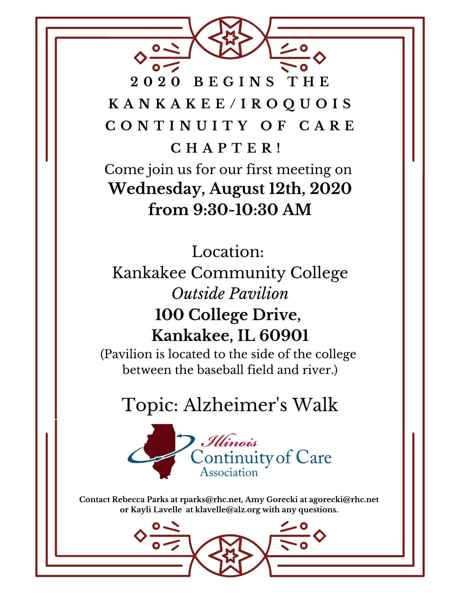 Inaugural Meeting for Kankakee/Iroquois Chapter